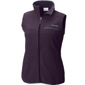 Columbia Mountain Crest Fleece Vest in Purple